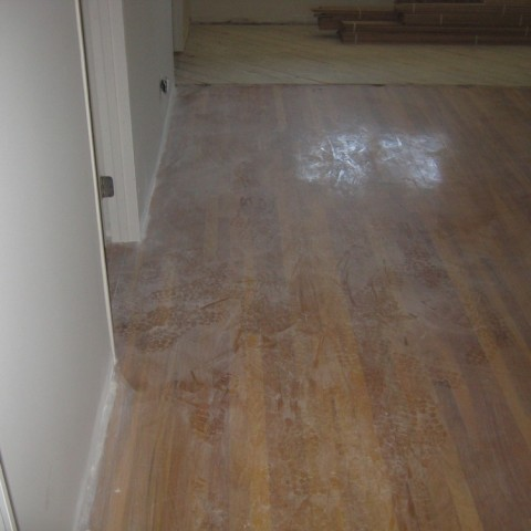 total remodel for hardwood floor